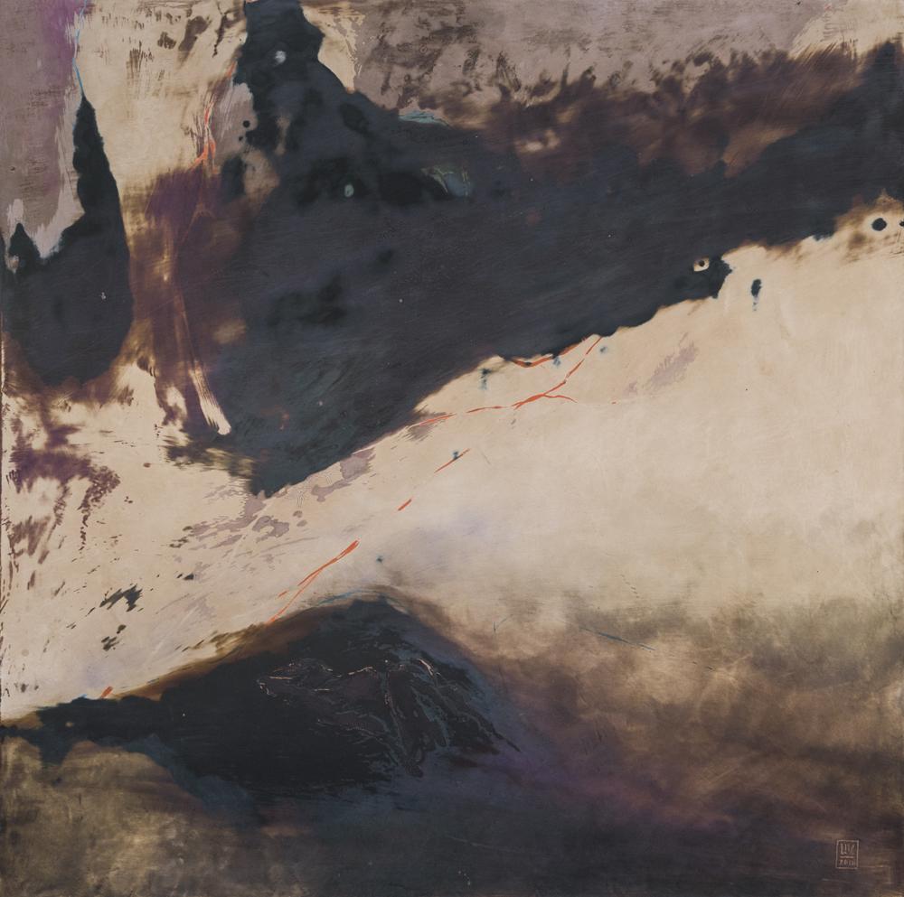 PARTICLES / No39. Natural lacquer. 60x60cm. 2018