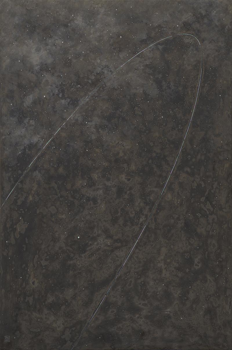 SỰ VẬN ĐỘNG CỦA VẬT CHẤT / No3. Sơn mài. 120x80cm. 2020
